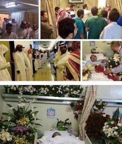 沙特的爱心人士排队探望患病的易卜拉欣,其中不乏腰缠万贯的土豪们。