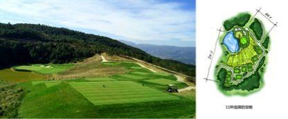 (左:由琼斯设计的,位于中国云南的云岭高尔夫球场)