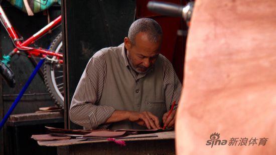马拉喀什的皮革匠人
