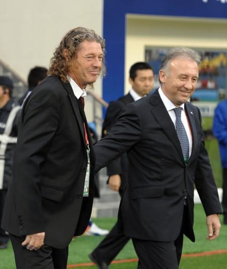 [亚洲杯]1\/4决赛日本3-2卡塔尔 两队主教练相互