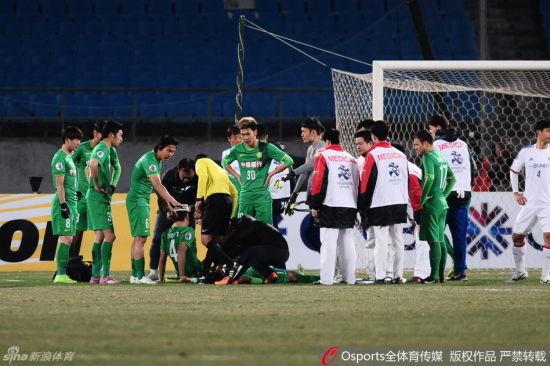 宋落轩等多名球员在竞赛中受伤