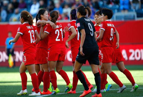 中国女足晋级16强