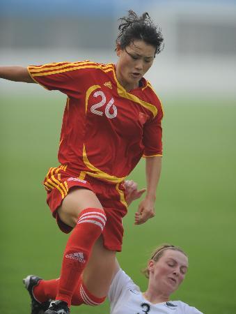 图文-[热身赛]中国女足3-1新西兰宋晓丽踩过对手