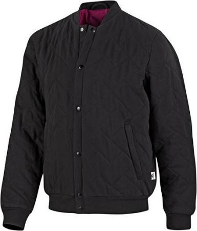 阿迪达斯 梭织夹克 p91666黑/白