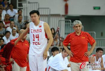 中国男篮热身胜新西兰王治郅轻取13分朱芳雨10分