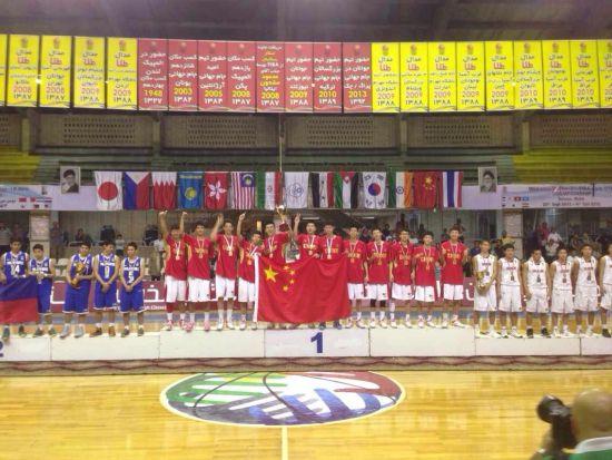 国青男篮获得冠军