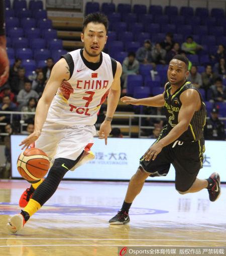睢冉连续两场比赛都是中国队的首发控卫