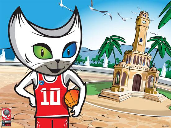 图文-2010年男篮世界锦标赛吉祥物10号是它最爱