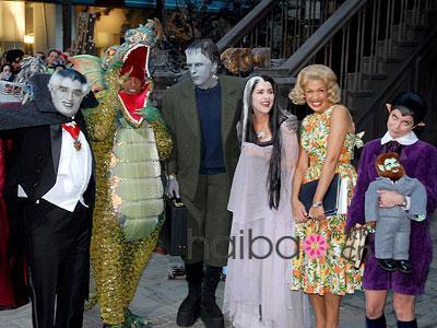 抓怕好莱坞明星 万圣节的搞怪造型 明星装扮 女星打扮 着装打扮 性感