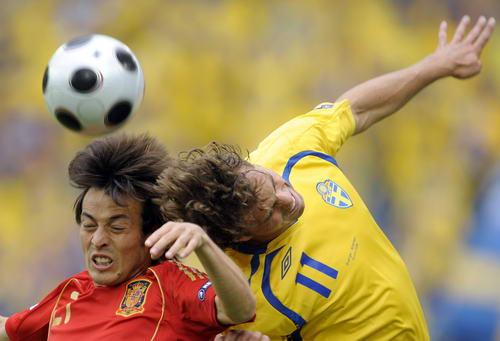 图文-[欧洲杯]瑞典VS西班牙非要顶个人仰马翻