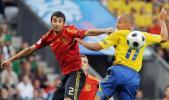 图文-[欧洲杯]瑞典1-2西班牙两人谁也没抢到球