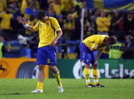 图文-[欧洲杯]俄罗斯2-0瑞典失利球员无比沮丧