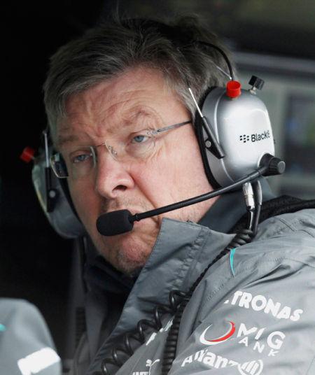 梅赛德斯车队领队罗斯-布朗