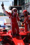 图文-F1法国大奖赛排位赛莱科宁一根手指指向苍天