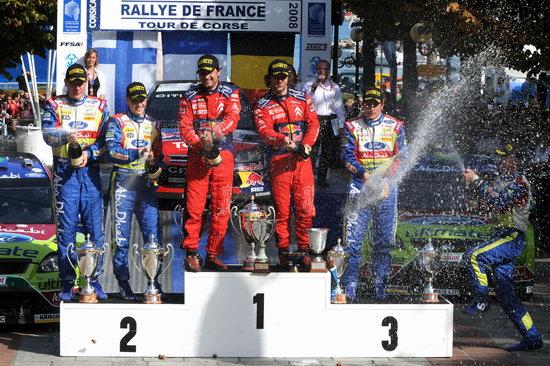 图文-WRC法国站勒布称霸福特军团成勒布陪衬