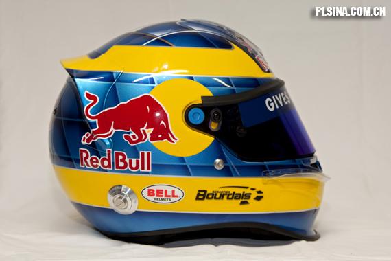图文-红牛二队发布新车STR4波尔戴的2009款头盔