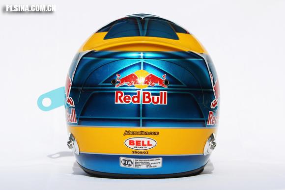 图文-2009F1车手肖像照波尔戴的头盔背面特写