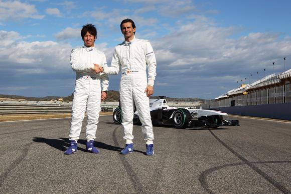 图文-索伯F1车队发布新车C29罗萨与小林新老配对