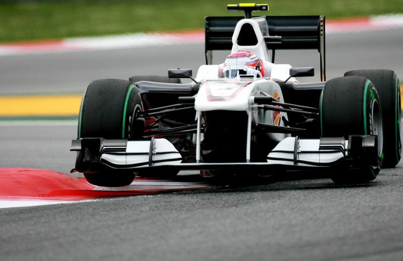 图文-F1西班牙站周五直击索伯车队终于有了赞助商
