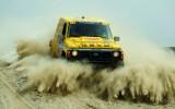 黄色赛车冲出