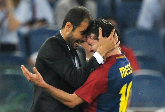 梅西赛后称没人比自己幸福瓜帅:他输球也是世界最佳