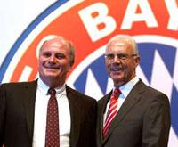 拜仁宣布赫内斯出任监事会主席贝肯鲍尔退居二线