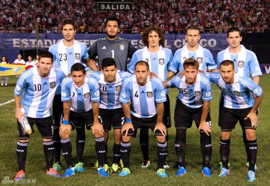 阿根廷队合影