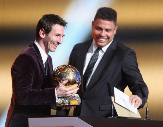 罗纳尔多称赞梅西的控球是当世第一