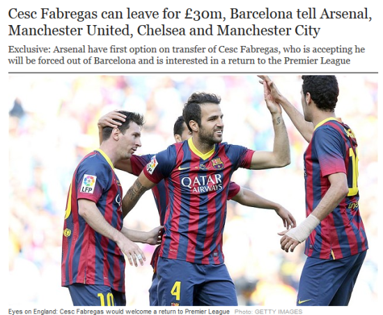 《每日电讯报》:阿森纳、曼联、曼城和切尔西被告知小法可售