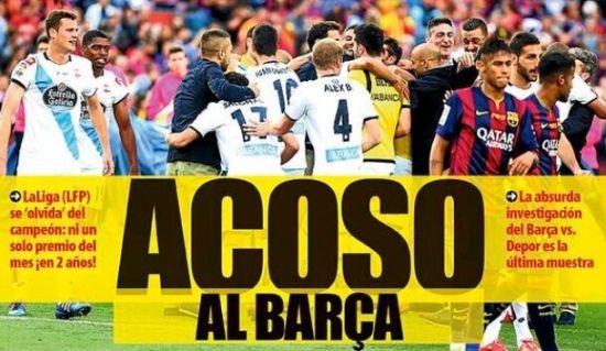 《世界体育报》封面:骚扰巴萨!