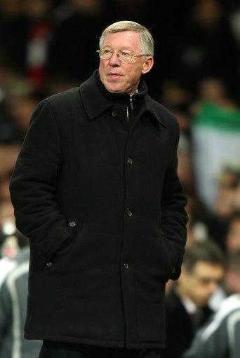 图文-[冠军杯]曼联1比0里昂弗格森表情轻松