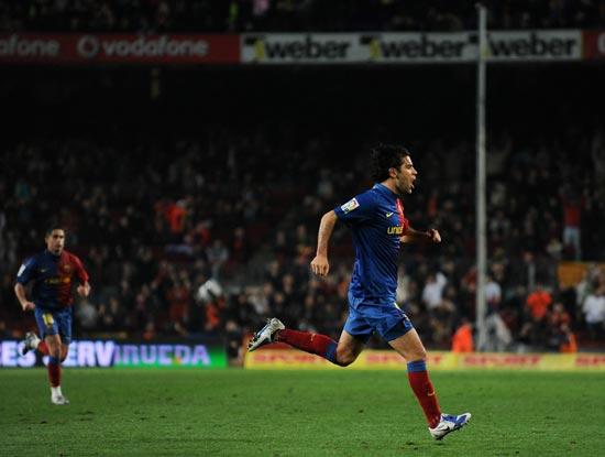 图文-[国王杯]巴塞罗那2-0马洛卡马科斯狂奔