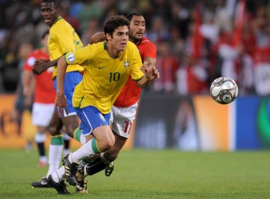 图文-[联合会杯]巴西4-3险胜埃及卡卡快速启动