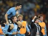 乌拉圭队员很兴奋