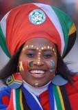 南非球迷精心装扮
