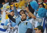 乌拉圭队球迷在赛前
