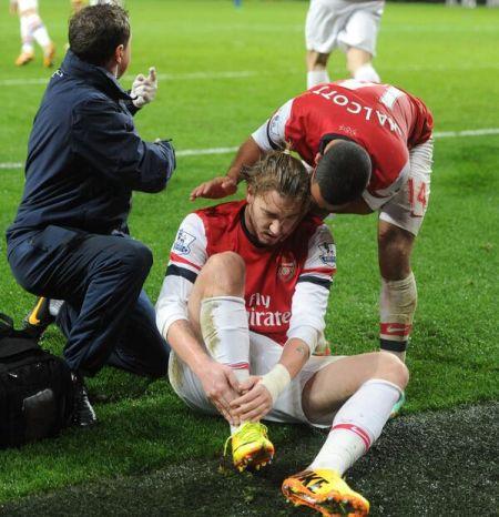 本特纳进球后意外受伤