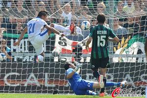 意甲-米利托2射1传新援处子球并造乌龙国米7-0胜