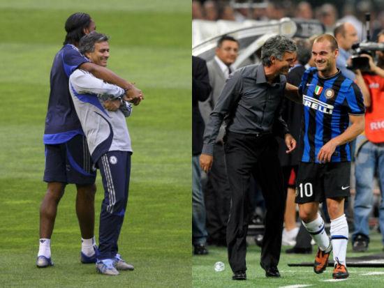 穆里尼奥跟德罗巴以及斯内德关系非常要好