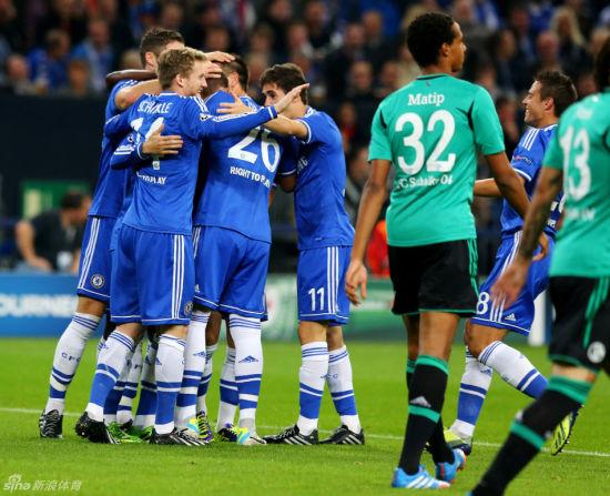 欧冠E组:切尔西两回合横扫沙尔克6个球