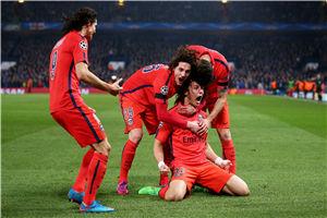 欧冠-伊布红牌巴黎2度扳平切尔西2-2加时出局