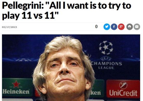 佩帅:我只想要11打11