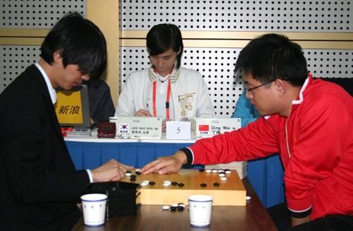 智运会围棋男团决赛中国负韩国痛失最重一金(谱)
