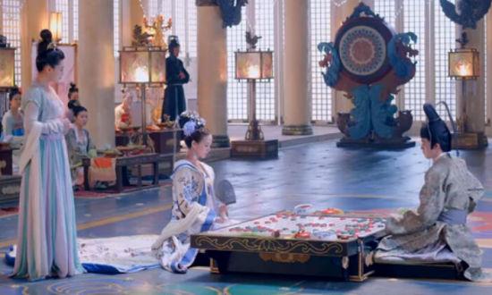 《武媚娘传奇》中徐慧与日本遣唐使对弈