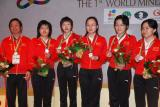 图文-国象男女团体超快棋颁奖中国女队有点郁闷