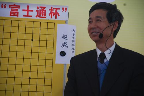 南京邮电大学校草-南邮富士通杯表演赛现场 王汝南满面笑容图片