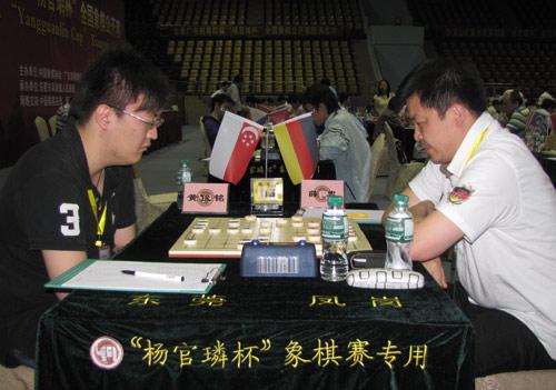图文-杨官�U杯第3轮现场聚焦黄俊铭大战薛忠