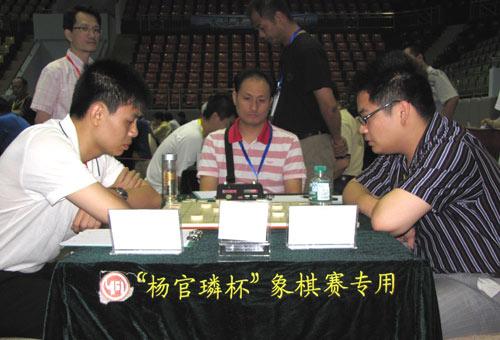 图文-杨官�U杯第4轮现场许银川蒋川交手