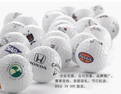 北京壹佰高尔夫球具店推出印制公司LOGO球业务
