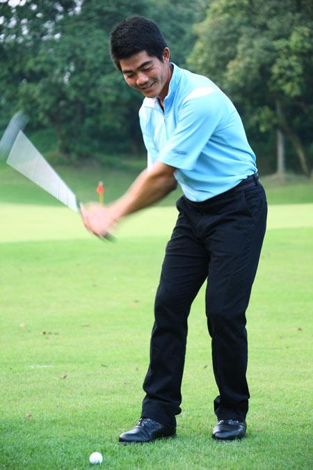 专访中国著名球员梁文冲:做好一个高尔夫球人